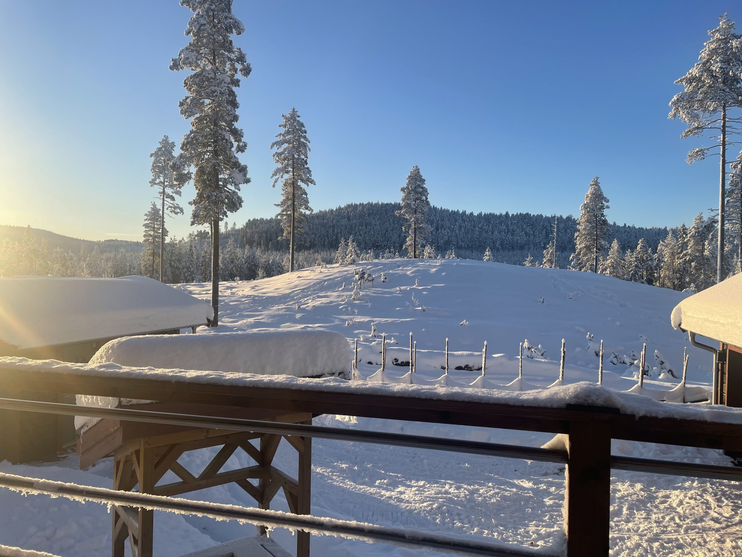 vinter, altan på kulle